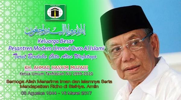 PM Ummul Quro Al Islami, Berduka Cita Atas Wafatnya KH. Hasyim Muzadi