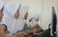 Hari Pertama Pelaksanaan UNBK 2017 di MA Ummul Quro Al Islami, Berjalan Sukses