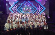 Para santri putra dan putri Pesantren Modern Ummul Quro Al-Islami berpartisipasi dalam memeriahkan acara Hafiz Cilik Indonesia 2018